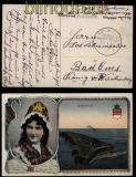 Marine-Schiffspost MSP # 139 2.9.1918 farb-AK Helgoland (31345)