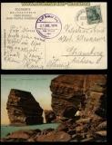 Hamburg - Helgoland Seepost farb-AK Helgoland 1909 (31808)