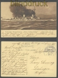 MSP # 14 SMS Dampfer General farb-AK Constantinople 17.6.1915 (43710)