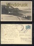 Österreich Bodenseee Schiffsbrief auf sw-Foto-AK Dornbirn 1933 (a1112)