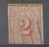 Hamburg Mi #  3 gestempelt zwei Schilling (45473)