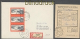 DDR Mi #  805 B als 3er-Streifen poertogerechte MeF Orts-R-Brief (45738)