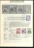 Österreich Mi # 1087/90 Erläuterungsblätter Unterschriften Entwerfer und (45787)