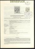 Österreich Mi # 1086 Erläuterungsblätter Unterschriften Entwerfer und Ste(45786)