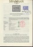 Österreich Mi # 1085 Erläuterungsblätter Unterschriften Entwerfer und Ste(45785)
