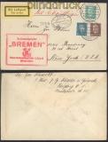 Erster Deutscher Katapultflug 22.7.1929 Dampfer Bremen (45824)