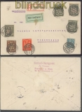 dt. Reich Auslands-LuPo-R-Brief Hamburg geprüft Winkler BPP (45830)