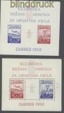 Kroatien Mi # Block 1 und 2 Marken postfrisch Falz auf dem Rand (46083)