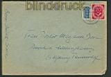 Bund Landpoststempel Jülich-Süd 1954 Fernbrief (21889)