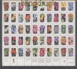 USA Mi # 2252/2301 postfrischer Zusammendruckbogen Wildblumen (46317)