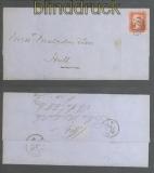 Großbritannien Mi # 10 zwei Briefe 1857 und 1862 nach Hull (46944)
