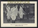 dt. Reich sw-Foto-AK Musslini und der König begrüßen den Führer in Rom ungebraucht (46885)