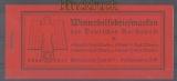 dt. Reich Markenheftchen Mi # 43 postfrisch WHW 1936 Moderne Bauten  (47127)