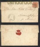 Dänemark Mi # 7 a EF Fernbrief Holstebro 1860 (47153)