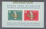 Schweiz Mi # Block 16 postfrisch Briefmarkenausstellung NABAG 1959 (47241)
