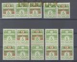 Dänemark Mi #  243 postfrisch sieben Paare Philatelistentag (47260)
