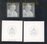 Polen Mi # 4017+ Vatikan # 1428 postfrisch Papst Johannes Paul II Silberf(47276)