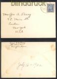 China Mi #  242 EF auf Auslandsbrief Shanghai 1932 in die USA (47299)