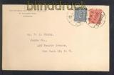 China Mi #  665 und 666 MiF auf Auslandsbrief Shanghai in die USA (47303)