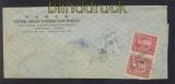 China Mi #  695 (2) MeF auf Auslandsbrief Shanghai in die USA (47305)