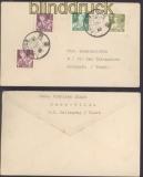 China VR Mi # 298 (2), 299 und 301 MiF auf Brief Tibet 1955 nach Nepal (47314)