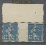 Memel Mi #  20 ZW postfrisch 4er-Block mit Zwischenstegpaaren (47644)