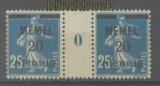 Memel Mi #  20 ZW postfrisch waagerechtes Zwischenstegpaar (47645)