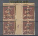 Memel Mi #  22 ZW postfrisch 4er-Block mit Zwischenstegpaaren (47647)