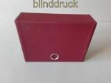 Hawid rote Kassette mit 35 Einsteckkarten mit Hüllen  (47925)