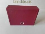Hawid rote Kassette mit 35 Einsteckkarten mit Hüllen  (47926)