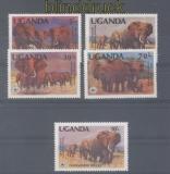Elefant Uganda Mi # 361/64 A und A 601 postfrisch WWF Elefanten (46772)