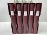 Lindner-dT Bund 1949 bis 1999 in 5 roten Ringbindern mit Kassetten doppel(48018)