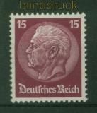 dt. Reich Mi # 488 postfrisch 15 Pfg. Hindenburg Wasserzeichen 2 (48088)