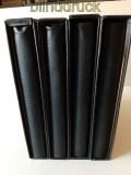 Krause 4 schwarze Ringbinder leer + Kassette passend für Lindner gebraucht(48365