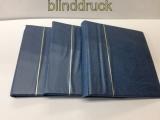 Krause 3 blaue Ringbinder leer passend für Lindner gebraucht (48379)