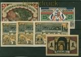 6 verschiedene Notgeldscheine Quern, Eschershausen Solnhofen kassenfrisch (48451)