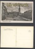 Reichenberg sw-Foto-AK Bismarckplatz mit Erzdekanalkirche ungebraucht (d8263)