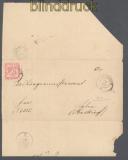 Baden Mi # 18 EF Oberkirch 1867 Doppelverwendung  (50152)