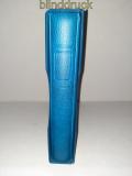Lindner blauer Ringbinder leer mit Kassette mit Griffmulde gebraucht (50506)