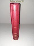 Leuchtturm roter Optima Ringbinder mit 20 Blättern für 80 Briefe gebraucht(50499