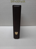 philswiss brauner Ringbinder mit Kassette und 27 Hüllen für Briefe (50509)