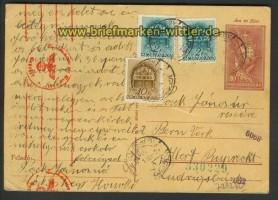 Ungarn Auslands-Zensur-GSK dt. Zensur   (21935)