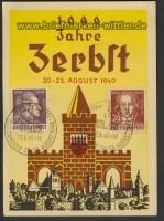 SBZ Festpostkarte 1000 Jahre Zerbst Mi # 234+236(22047)