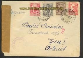 Jugoslawien Auslands-Zensur-Brief 1952 Wien (21933)