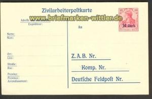 Etappengebiet West GSK P 9 ungebraucht Zivilarbe(21698)