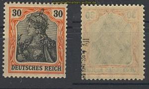 dt. Reich Mi #  89 II y postfrisch geprüft Oechs (22105)