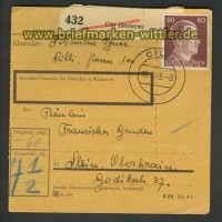 Dt. Reich Mi # 797 EF Paketkarte Cilli Ostmark (22215)