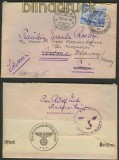 Dt. Reich Mi # 742 EF Auslands-Zensut-Brief (21915)