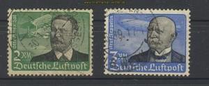 dt. Reich Mi # 538 und 539 gestempelt Flugposta (22143)