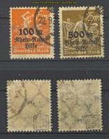 dt. Reich Mi # 258/59 gestempelt geprüft Infla (22131)